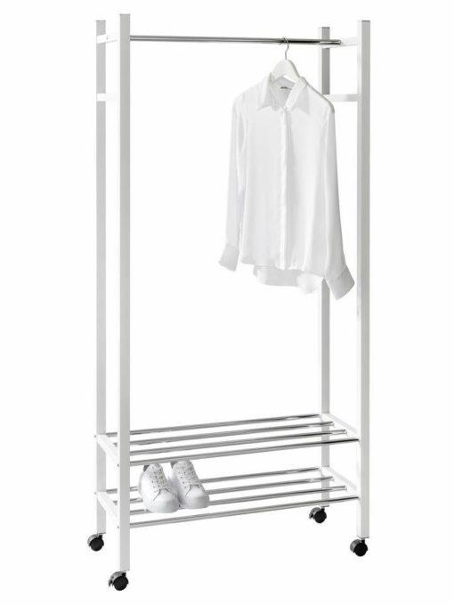 Metalowa garderoba w kolorze białym