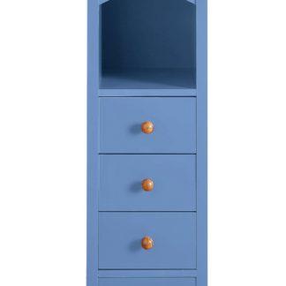 Piękna i oryginalna komoda w kolorze niebieskim