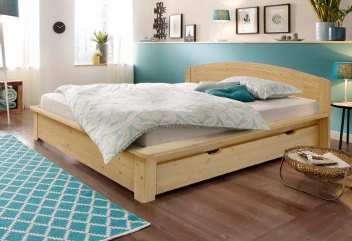 Eleganckie, komfortowe łóżko z litego drewna 180x200 cm
