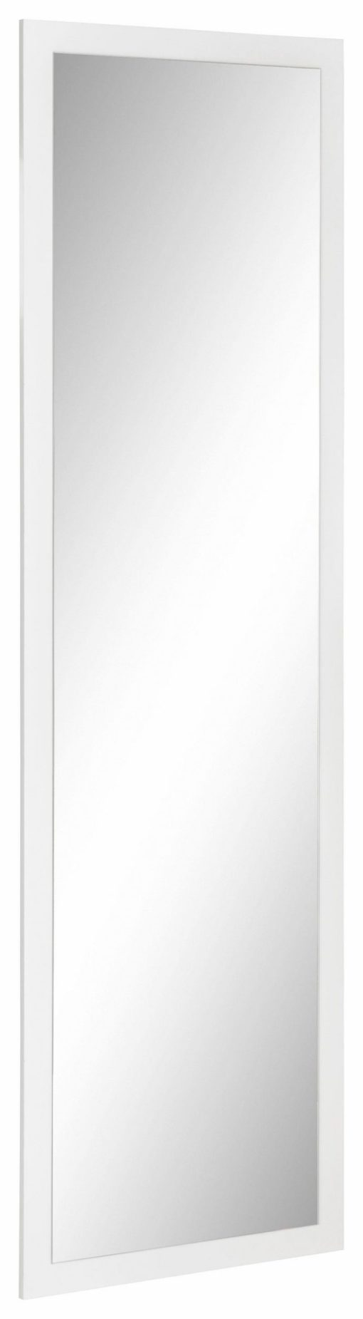 Duże, eleganckie lustro, biała matowa rama