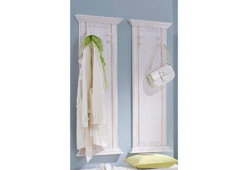 Zestaw dwóch sosnowych paneli ściennych w kolorze białym