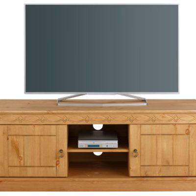 Atrakcyjna szafka RTV z litej sosny w stylu rustykalnym