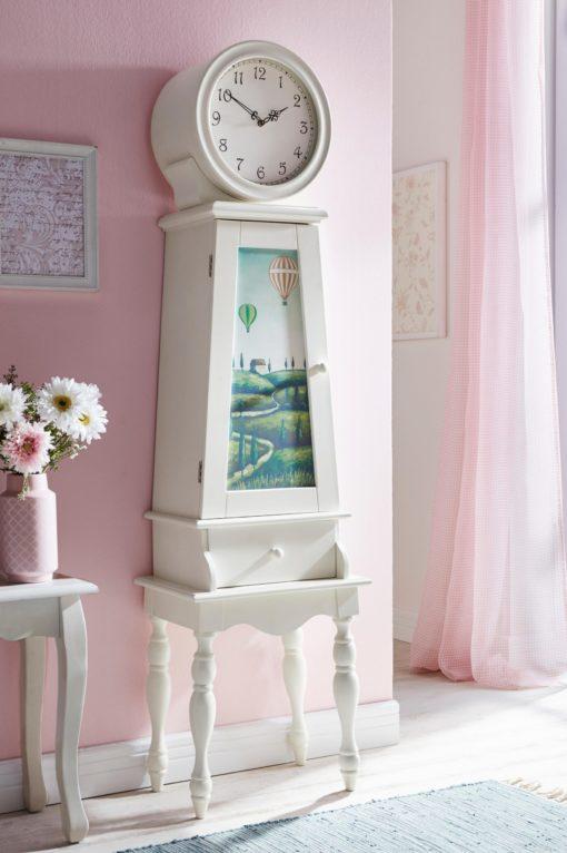 Wyjątkowa szafka w kształcie antycznego zegara, z pięknym printem