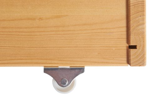 Szuflada pod łóżko sosnowa, z kółkami