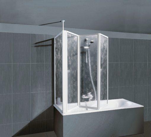 Kabina prysznicowa montowana na wannę - rama aluminiowa
