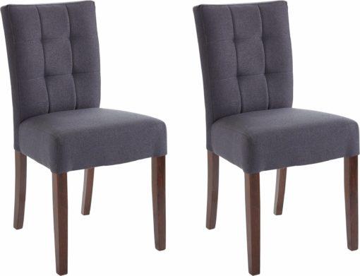 Eleganckie, tapicerowane krzesła - zestaw 2 sztuki