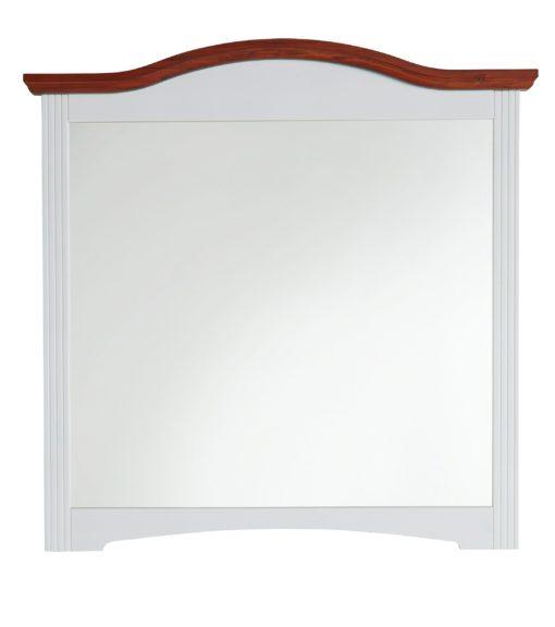 Eleganckie lustro w sosnowej ramie