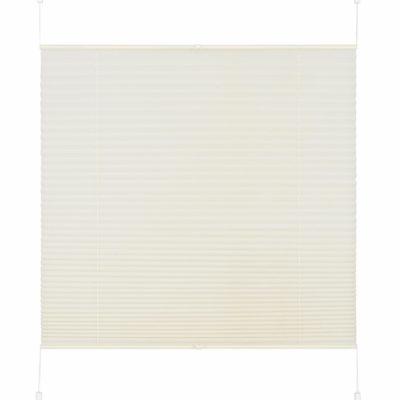 Plisowana, kremowa roleta 80x130 cm
