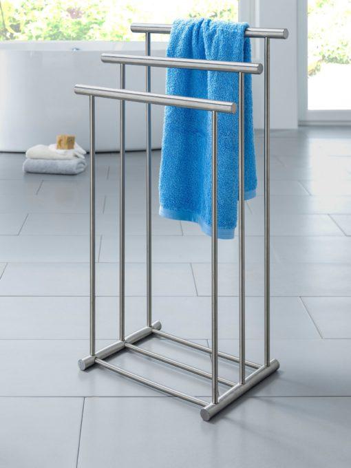 Łazienkowy wieszak na ręczniki ze stali