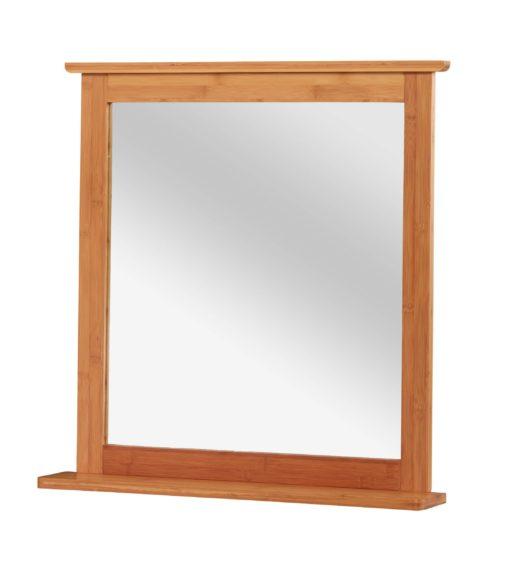 Nowoczesne, proste lustro z bambusową ramą