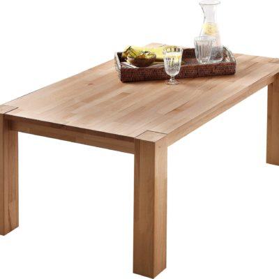 Praktyczny stolik kawowy z litego drewna bukowego