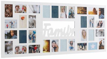 Duża ramka na zdjęcia/fotogaleria w kolorze białym