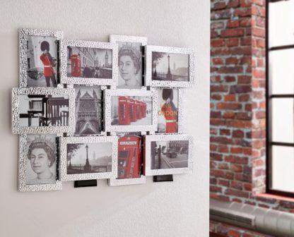 Nowoczesna ramka na 12 zdjęć z aluminium