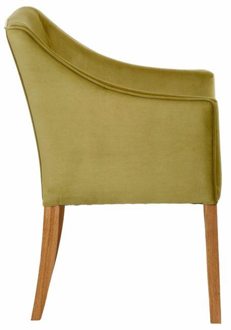 Wygodny fotel z mikrofibry w stylu lat 50-tych
