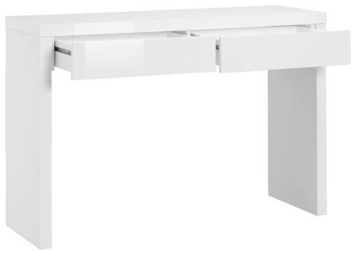 Minimalistyczny, biały stolik/konsola - wysoki połysk