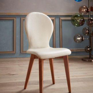 Piękne, tapicerowane krzesła w skandynawskim stylu - 2 szt