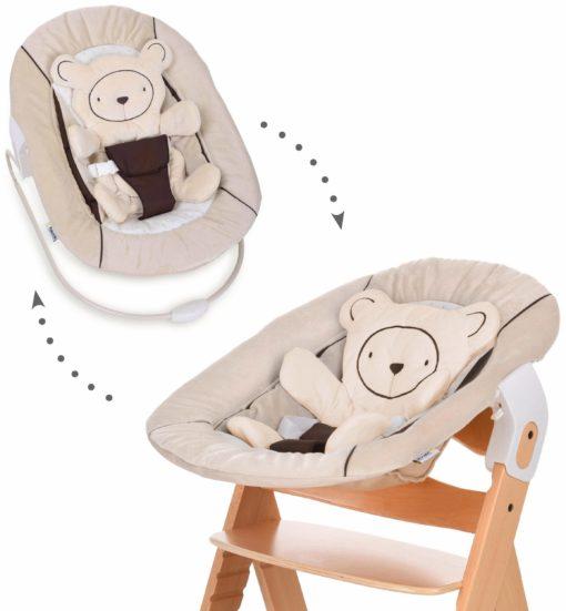 Leżaczek dla noworodka Hauck, beżowy
