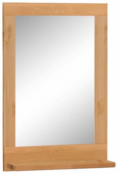 Minimalistyczne, proste lustro z drewnianą ramą