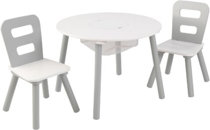 Meble dziecięce drewniane - stolik z dwoma krzesłami