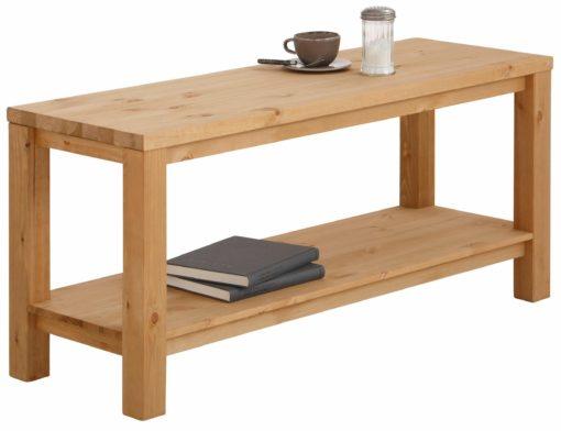 Minimalistyczny, sosnowy stolik kawowy