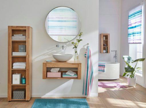 Elegancka, nowoczesna szafka pod umywalkę - dębowa