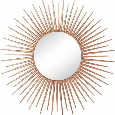 Nowoczesne, dekoracyjne, złote lustro