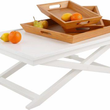 Niesamowity stolik do salonu z trzema tacami