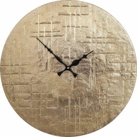 Atrakcyjny, nowoczesny zegar ścienny w kolorze złotym