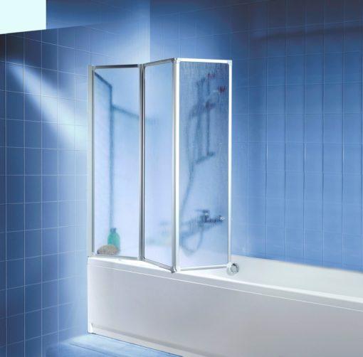 Kabina prysznicowa montowana na wannę, rama srebrna
