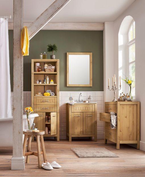 Komoda łazienkowa z sosny, niezwykle dekoracyjna