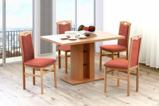 Zestaw czterech ponadczasowo eleganckich krzeseł
