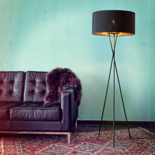 Nowoczesna lampa podłogowa, czarna