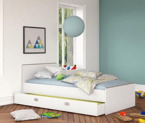 Praktyczne łóżko 90x200 cm z szufladą
