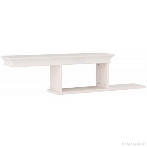 Dekoracyjna półka ścienna w kolorze białym
