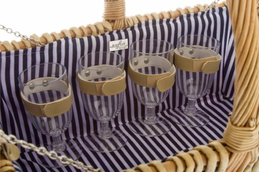 Praktyczny koszyk piknikowy dla czterech osób