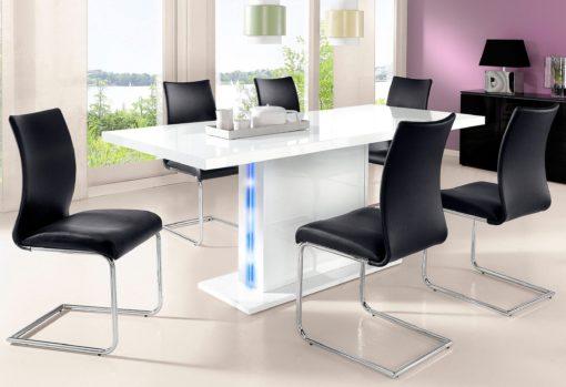 Nowoczesny i funkcjonalny, biały stół do jadalni