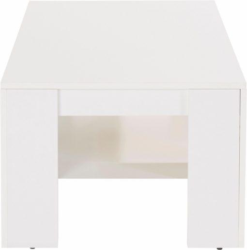 Atrakcyjny stolik kawowy w kolorze białym