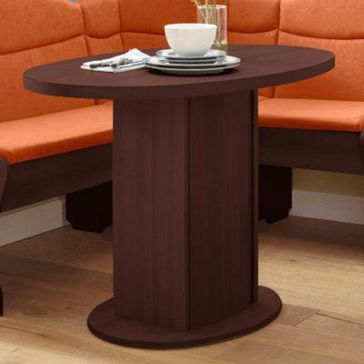 Ponadczasowy, owalny stół kuchenny, w kolorze wenge