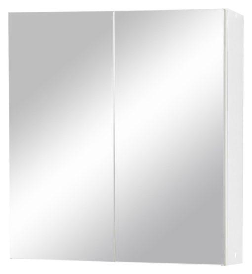 Prosta szafka łazienkowa z drzwiami z lustrem