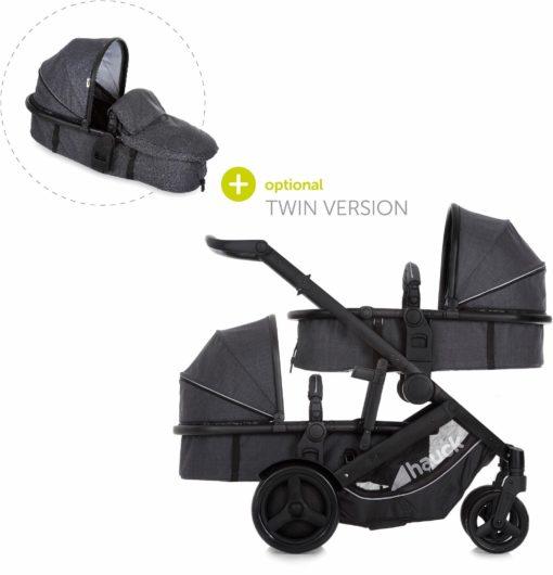 Wielofunkcyjny wózek dla rodzeństwa lub bliźniąt