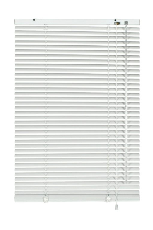 Duża aluminiowa żaluzja w kolorze białym 155x175 cm