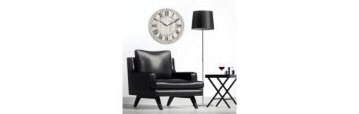 Minimalistyczny, szklany zegar