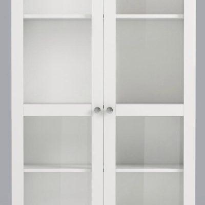 Praktyczny zestaw dwóch przeszklonych drzwi