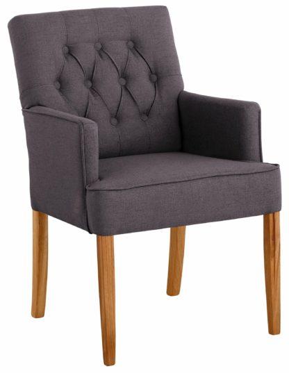 Szlachetny, tapicerowany fotel w kolorze antracytowym