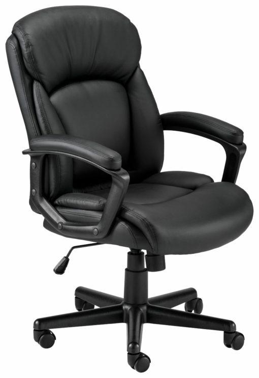 Czarny fotel biurowy z regulacją wysokości