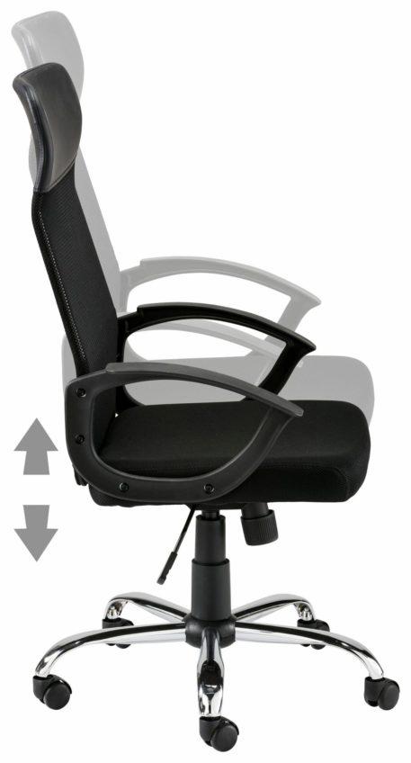 Komfortowy fotel biurowy w kolorze czarnym