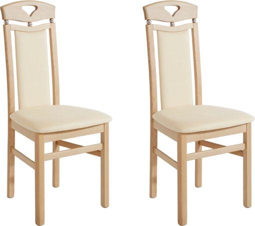 Eleganckie, kremowe krzesła - zestaw 2 sztuki