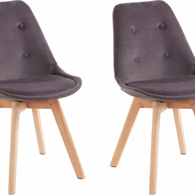 Zestaw dwóch krzeseł w stylu retro