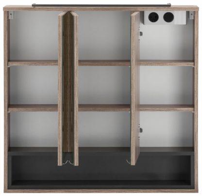 Elegancka szafka łazienkowa z lustrem