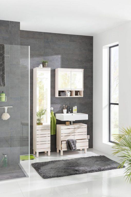 Szafka łazienkowa z lustrem i półką